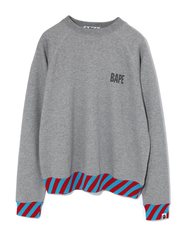 Stripe Rib Wide sweatshirt