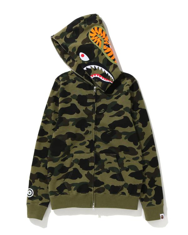 1st Camo Shark zip hoodie
