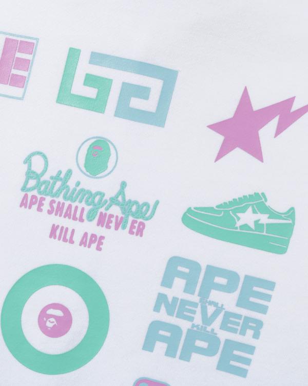 Colours multi logo zip hoodie