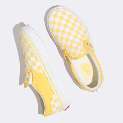 Vans Kids Shoes Kids Checkerboard Slip-On Aspen Gold/True White