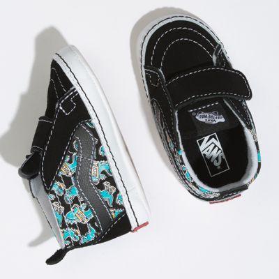 Vans Kids Shoes Infant Vanosaur Sk8-Hi Crib Black/True White