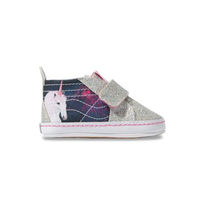 Vans Kids Shoes Infant Digi Unicorn Sk8-Hi Crib Black/True White