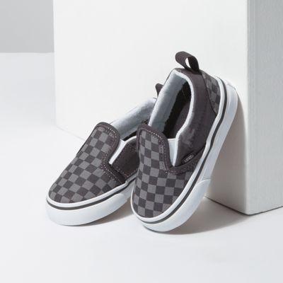 Vans Kids Shoes Toddler Tonal Checkerboard Slip-On V Obsidian/Camo