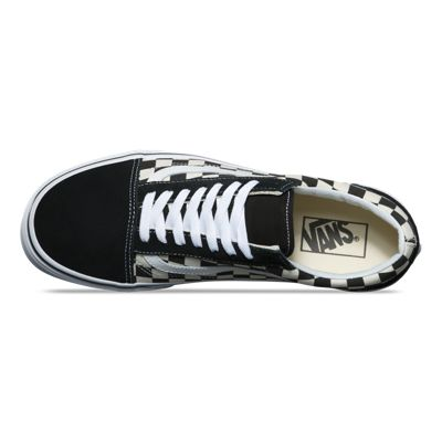 Vans Women Shoes Primary Check Old Skool Black/White