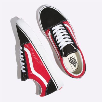 Vans Women Shoes OTW Sidewall Old Skool Black/Racing Red