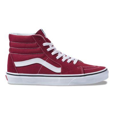 Vans Women Shoes Sk8-Hi Rumba Red/Off White