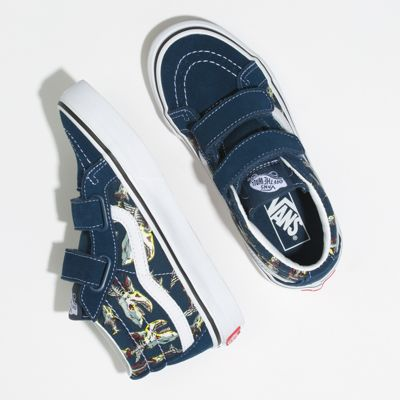 Vans Kids Shoes Kids Zombie Sharks Sk8-Mid Reissue V Gibraltar Sea/True White