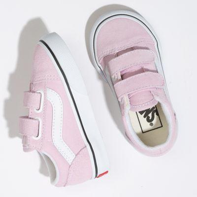 Vans Kids Shoes Toddler Old Skool V Lilac Snow/True White