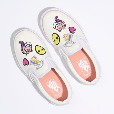 Vans Kids Shoes Kids Unicorn Alien Slip-On Glitter/True White