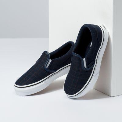 Vans Kids Shoes Kids Suiting Slip-On Dress Blues/True White