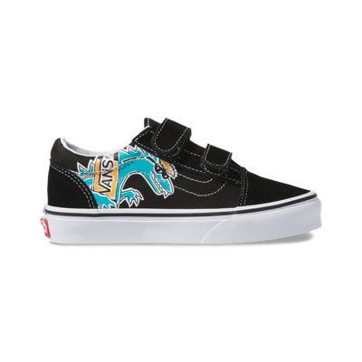 Vans Kids Shoes Kids Vanosaur Old Skool V Black/True White