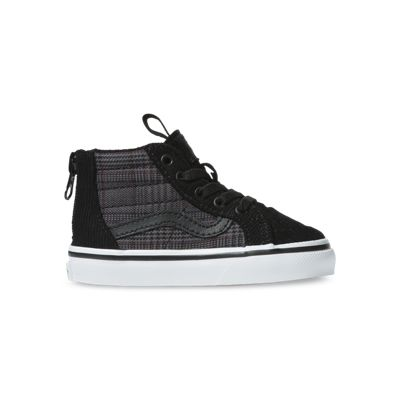 Vans Kids Shoes Toddler Suiting Sk8-Hi Zip Black/True White