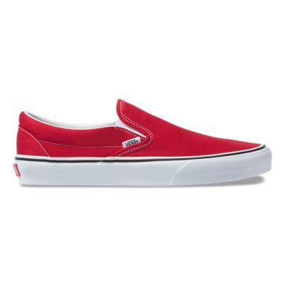 Vans Men Shoes Slip-On Racing Red/True White
