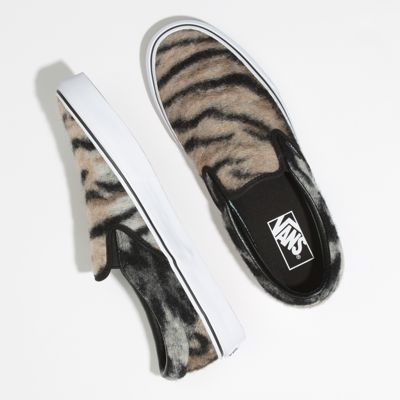 Vans Women Shoes Leopard & Tiger Slip-On Black/True White