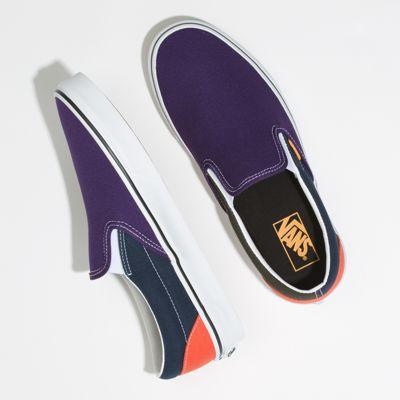 Vans Men Shoes Mix & Match Slip-On Violet Indigo/Forest Night