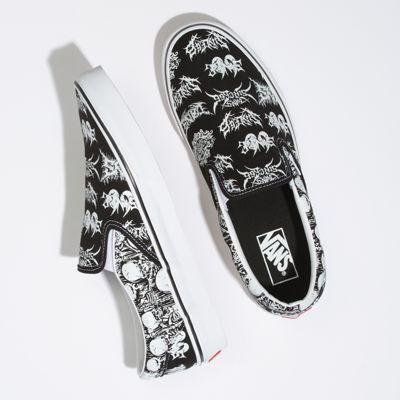 Vans Women Shoes Forgotten Bones Slip-On Black/True White
