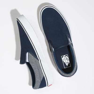 Vans Men Shoes Suede Slip-On Suiting/Dress Blues