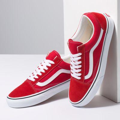 Vans Men Shoes Old Skool Racing Red/True White