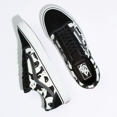 Vans Men Shoes Alien Ghosts Old Skool Black/True White