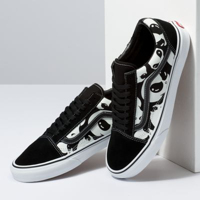 Vans Men Shoes Alien Ghosts Old Skool Black/True White