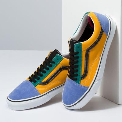 Vans Women Shoes Mix & Match Old Skool Cadmium Yellow/Tidepool