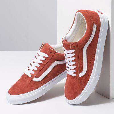 Vans Women Shoes Pig Suede Old Skool Burnt Brick/True White