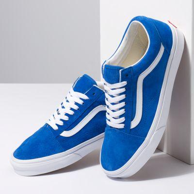 Vans Men Shoes Pig Suede Old Skool Princess Blue/True White