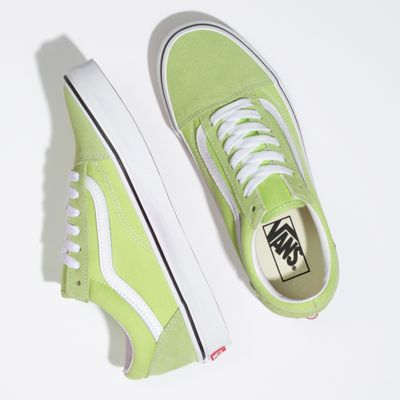 Vans Women Shoes Old Skool Sharp Green/True White