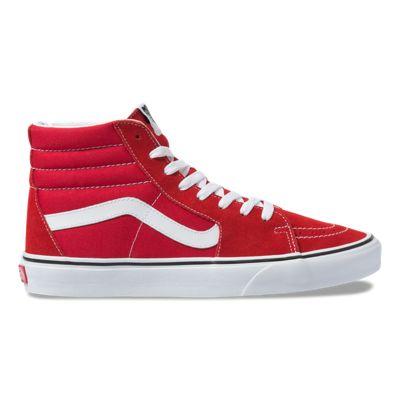 Vans Men Shoes Sk8-Hi Racing Red/True White