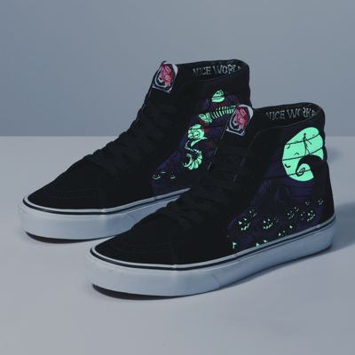 Vans Men Shoes Disney X Vans Sk8-Hi THE NIGHTMARE BEFORE CHRISTMAS/Jack's Lament