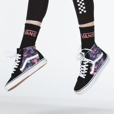 Vans Men Shoes Warped Floral Sk8-Hi Black/True White