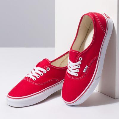 Vans Women Shoes Authentic Red