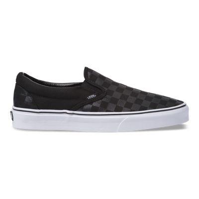 Vans Women Shoes Checkerboard Slip-On Black/Black Check