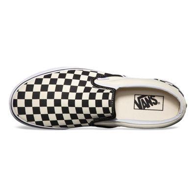 Vans Women Shoes Checkerboard Slip-On Black/Off White