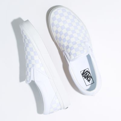 Vans Men Shoes Checkerboard Slip-On True White/True White