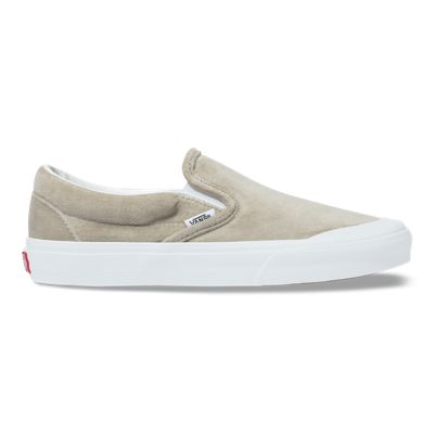 Vans Women Shoes Velvet Slip-On TC Gray/True White