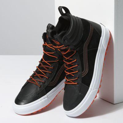 Vans Men Shoes Sk8-Hi Boot MTE 2.0 DX Black/Spicy Orange