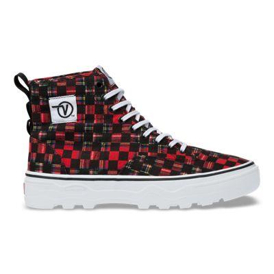 Vans Men Shoes Plaid Check Sentry WC Red/True White