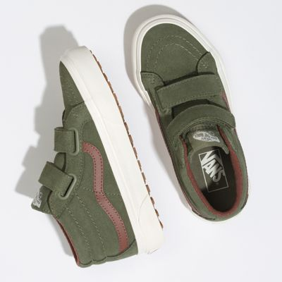 Vans Kids Shoes Kids Sk8-Mid Reissue V MTE Deep Lichen Green/Root Beer