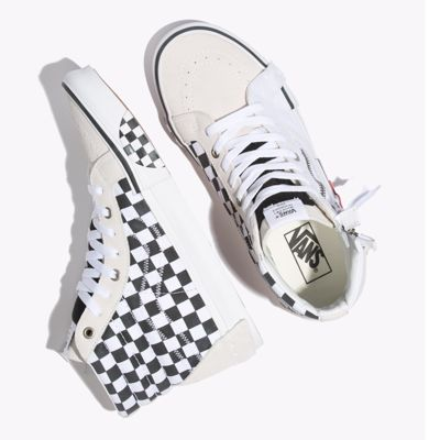 Vans Women Shoes Checkerboard Sk8-Hi Reissue Cap True White/Black