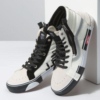 Vans Women Shoes Reflective Sk8-Hi Reissue CAP Marshmallow/Black