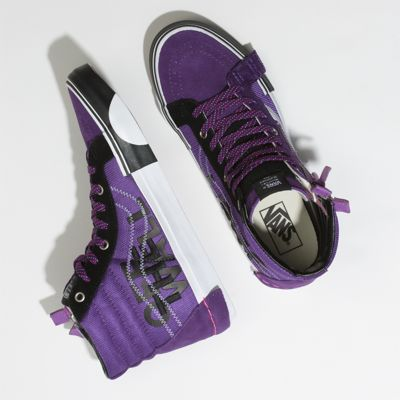 Vans Men Shoes Reflective Sk8-Hi Reissue CAP Violet Indigo/Black
