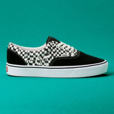 Vans Women Shoes Comfycush Tear Check Era Black/True White