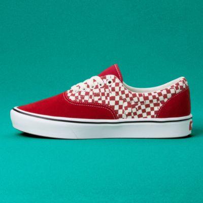 Vans Men Shoes ComfyCush Tear Check Era Racing Red/True White