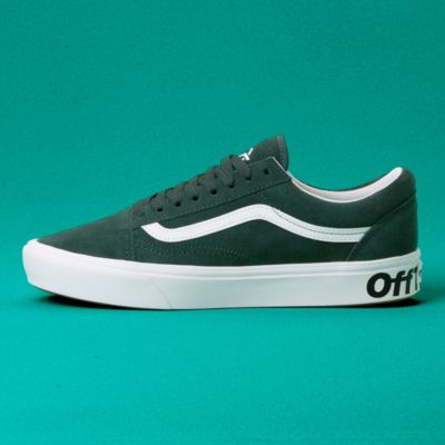 Vans Men Shoes ComfyCush Distort Old Skool Trekking Green/True White