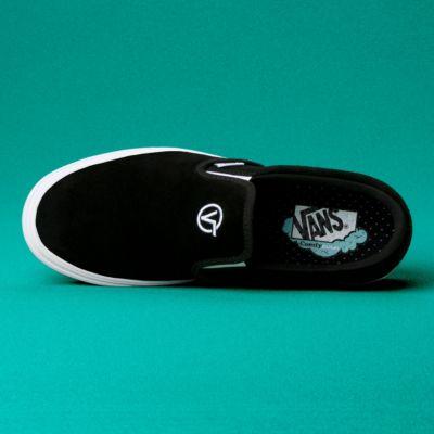 Vans Men Shoes ComfyCush Distort Slip-On Black/True White