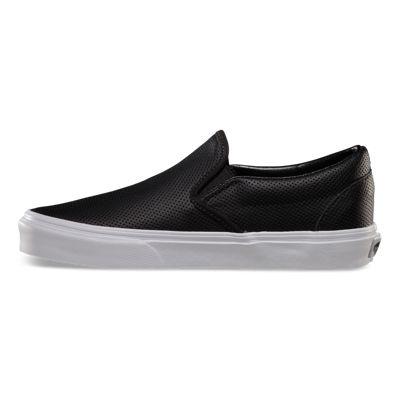 Vans Women Shoes Perf Leather Slip-On Black
