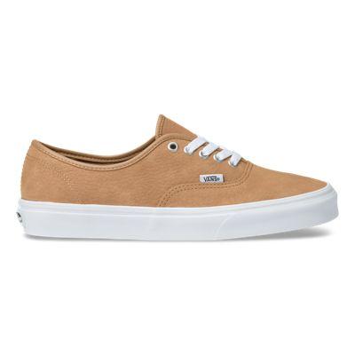 Vans Men Shoes OS Grain Leather Authentic Camel