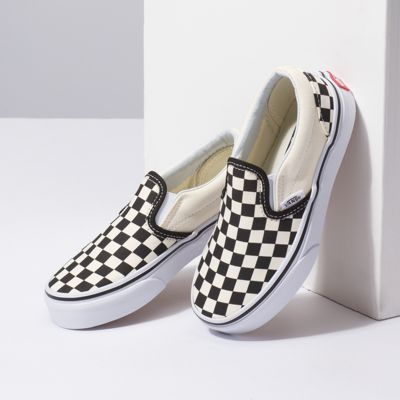 Vans Kids Shoes Kids Checkerboard Slip-On (Checkerboard) black/white