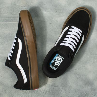 Vans Men Shoes Old Skool Pro Black/White/Medium Gum